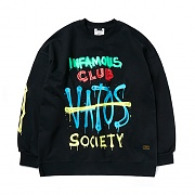 STIGMA SPRAY OVERSIZED HEAVY SWEAT CREWNECK BLACK