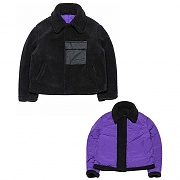Fleece Reversible Heavy Puffer Parka _black