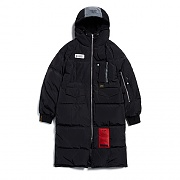TIGER DUCKDOWN LONG PADDING JACKET BLACK