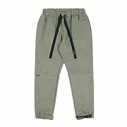 STIGMA STGM OXFORD WIDE JOGGER PANTS OLIVE