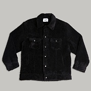 SHERPA TRUCKER JACKET_BLACK