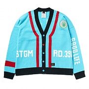 STIGMA GOOD LIFE OVERSIZED WOOL CARDIGAN SKYBLUE