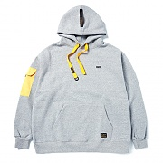 STIGMA STGM POCKET OVERSIZED HEAVY SWEAT HOODIE GREY