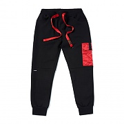 STIGMA STGM POCKET HEAVY SWEAT JOGGER PANTS BLACK