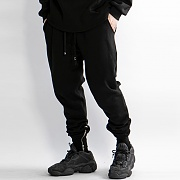 2018-2019 Zip Slim Sweat Pants_Black