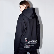 BACK LOGO HOODY(BLACK)