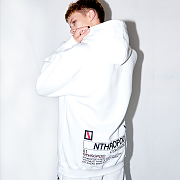 BACK LOGO HOODY(WHITE)