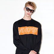 COLOR SWEAT SHIRT(BLACK)