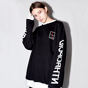 LETTERING SWEAT SHIRT(BLACK)