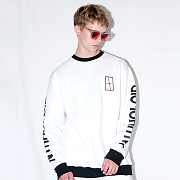 LETTERING SWEAT SHIRT(WHITE)