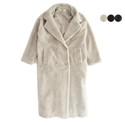 TEDDY OVERSIZED LONG COAT(3COLOR)*여성용