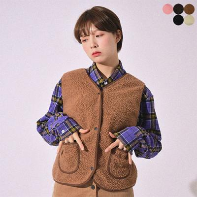 COSY SHEARLING VEST(5COLOR)*여성용