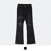 VINTAGE BLACK NAPPING BOOT-CUT JEANS*여성용