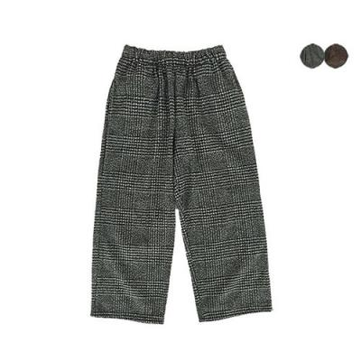 GLEN CHECK WOOL WIDE PANTS(2COLOR)*남성용