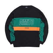 2018 DIMITO LINE PANELED SWEATSHIRTS BLACK