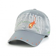 STIGMA METHOD SATIN BASEBALL CAP GREY
