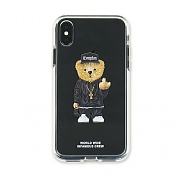 STIGMA PHONE CASE COMPTON BEAR CLEAR iPHONE Xs / Xs MAX / Xr