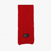 LAMBSWOOL 100 KNIT MUFFLER (RED)