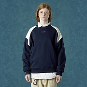 embroidery sweatshirt-navy