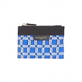 SMALL ALL-OVER RECTANGLE POUCH-BLUE