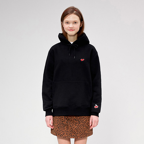 SMALL CHERRY HOODIE IS [BLACK]