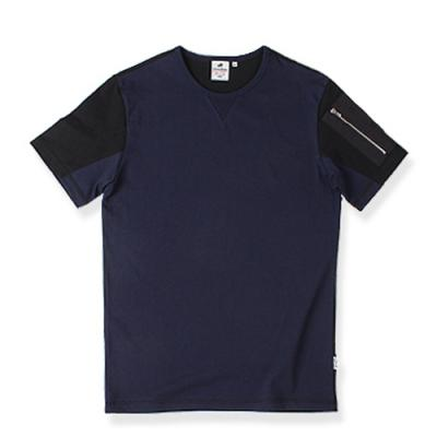 LOMORT ZIP POCKET TEE-NAVY