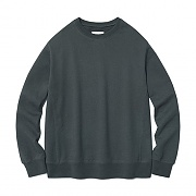 [ISVT21] DYED COLOR CREWNECK IS [DARK GREY]