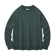 [ISVT21] DYED COLOR CREWNECK IS [OLIVE]