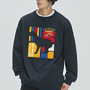 Flag Panel Embroi Sweat-Shirts navy
