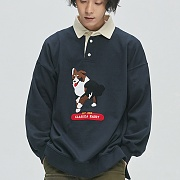 Border collie Rugby Sweat _navy