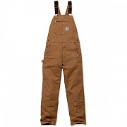 (102776)M DUCK BIB OVERALLS-BROWN