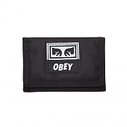 (100310099) DROP OUT TRI FOLD WALLET-BLK