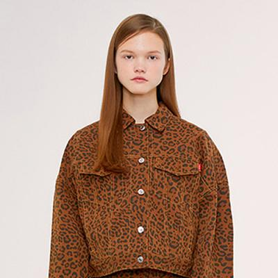TRUCKER JACKET IS [LEOPARD]