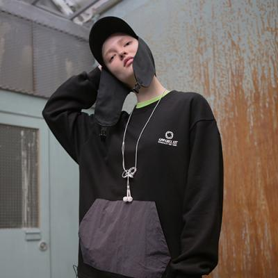 UNISEX TECH POCKET SWEAT SHIRTS BLACK