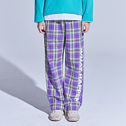 LOGO CHECK BANDING PANTS (PURPLE)