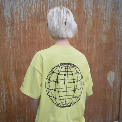 UNISEX WORLD WIDE T SHIRTS YELLOW GREEN