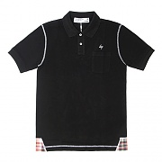 LIFUL POCKET POLO TEE-BLK