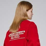 LETTERING SWEATSHIRTS (RED)