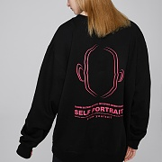SELF PORTRAIT SWEATSHIRTS (BLACK)