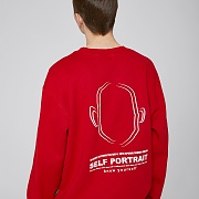 SELF PORTRAIT SWEATSHIRTS (RED)