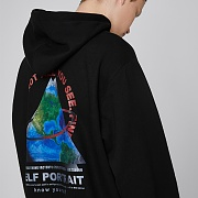 TRIANGLE EARTH HOODIE (BLACK)