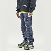 STRING POCKET WARM UP PANTS NAVY