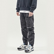 STRING POCKET WARM UP PANTS BLACK