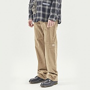 TAPE DECO WORK PANTS BEIGE