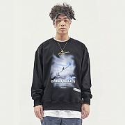 OBSERVATION SWEAT TOP BLACK