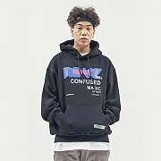 THE CONFUSED HOODIE BLACK