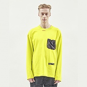 STRING POCKET LONG SLEEVE LIME