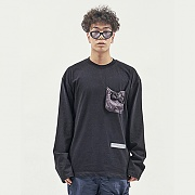 STRING POCKET LONG SLEEVE BLACK