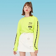 TAPING LONG SLEEVE T-SHIRTS-LIME
