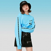 TAPING LONG SLEEVE T-SHIRTS-SKY BLUE